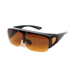 Fitover Overzetzonnebril Sonnenüberbrille with Visor front