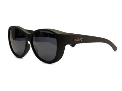 Fitover Overzetzonnebril Sonnen Überbrillen Milano Black (model: POL505)